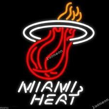New Rare Miami Heat Sports Team Real Glass Beer Bar Neon Light Sign FAST SHIPING