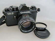 Vtg Chinon CE-3 Memotron Film SLR M42 Mount w/ 55mm f:1.7 Lens, TESTED, (9), NR!