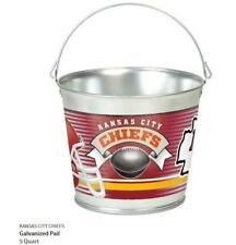 Kansas City Chiefs Metal Bucket Galvanized, Nfl Football, Galvanized Tail, 5 Ltr