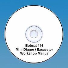 Bobcat 116 Mini Digger Workshop Manual