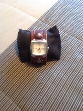 FOSSIL MENS DAY/DATE WATCH BROWN LEATHER BAND