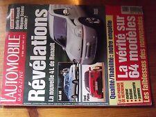 $$$ Revue L'Automobile Magazine N°609 4L RenaultMegane ScenicFord Puma