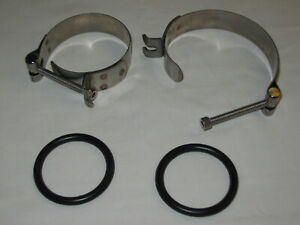 Premium Stainless Steel O-Ring Intake Clamps, Easy-On, Harley Pan, Shovel, XL