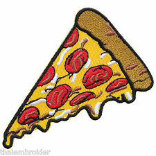 PIZZA Fast Food Cheese Sauce Bacon Sausage Pepperoni Tomato Iron-On Patches F022