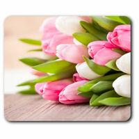 Computer Mouse Mat - Bunch of Tulip Flowers Florist Shop Office Gift #16347