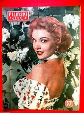 KATHLEEN HUGHES ON COVER HOWARD KEEL 1953  MARILYN MONROE INSIDE EXYU MAGAZINE