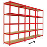 Garage Racking Heavy Duty Shelving Unit Storage Z Racks Shelves Bays 5 Tier 90cm