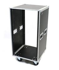 16 Space 16U Deluxe OSP ATA-style Amp or Effects Studio Rack Case w/Wheels KD16U