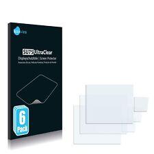 6x Displayschutzfolie für Sony Alpha 900 (DSLR-A900) Klar Schutzfolie