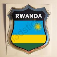 Pegatina Ruanda 3D Escudo Emblema Vinilo Adhesivo Resina Relieve Coche Moto