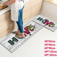 Non-slip Kitchen Floor Mats Doormat Bathroom Carpet Runner Area Rug Home Decor