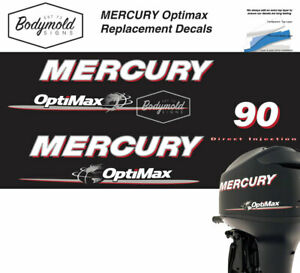 Mercury Optimax 90hp outboard decals 2008 Onwards