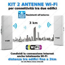 Kit 2 Antenna WiFi esterno alta potenza condivisione Internet fino a 3km