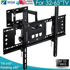"""Full Motion TV Wall Bracket Mount Tilt Swivel 32 40 43 45 50 55 60 65"""" Inch 50KG"""