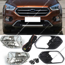 For FORD ESCAPE KUGA 2017-2019 Bumper Bezel Driving Lamp Fog Lgiht Harness k Kit
