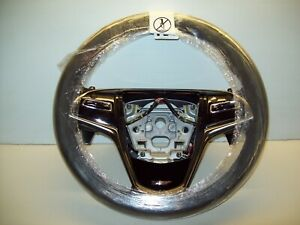 2016-2019 Cadillac ATS-V Black Leather Steering Wheel Assembly OEM# 84304433