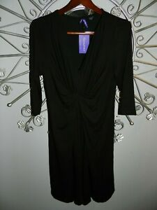 NWT SERAPHINE MATERNITY CLASSIC FRONT KNOT BLACK DRESS SIZE 8 *NEW with TAGS*