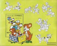 Mnh 1984 Walt-disney-cifre completa Edizione Dominica 897 Minifoglio