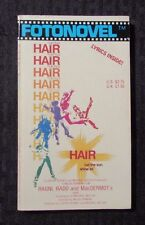 1979 HAIR THE FILM 1st Fotonovel Paperback VF+ 8.5 Lyrics Inside Photos