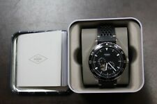 Fossil Men's ME3148 Crewmaster Sport Automatic Black Leather Watch