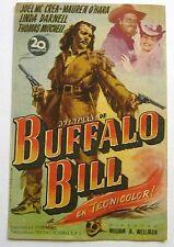 PROGRAMA DE CINE Aventuras de BUFFALO BILL Original 1949 JOEL McCREA Raro !!!