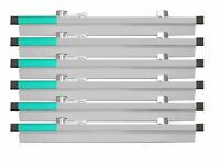 "AdirOffice 18"" Aluminum File Blueprint Hanging Clamps 6-Pack"