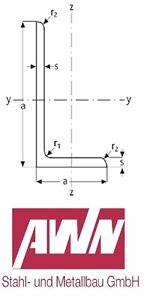100-200cm Winkelstahl 100x50x8mm Stahlwinkel Eisenwinkel Winkeleisen Profil S235