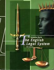 The English Legal System 4th edition by Jacqueline Martin (Paperback, 2005)