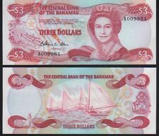 Bahamas 1984 3 Dollars Mint Unc. Pick 44