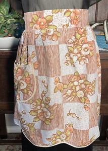 Vintage Floral Tie Back Retro Cotton Apron Pinny K7