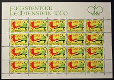 Francobollo LIECHTENSTEIN Stamp - Yvert e Tellier n°467 x20 (En Feuillet) n (Y5)