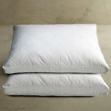 White Goose Feather and Down Jumbo Pillow 2 Sleeping Pillows 100% Cotton Cover