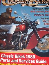 Classic Bike 10/87 BSA A10, Triumph Thunderbird, Norton Dominator Test,Indian
