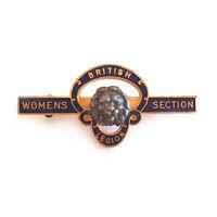 VINTAGE BRITISH LEGION WOMENS SECTION PIN BADGE