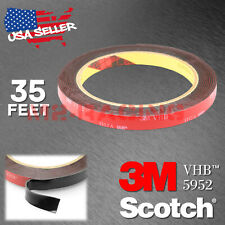 Genuine 3M VHB #5952 Double-Sided Mounting Foam Tape Automotive Car 10mm x 35FT