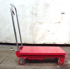 Dayton Scissor Lift Cart 3kr46j 27 12 X 17 58 Deck