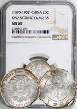 China 1890-1908 Kwangtung 20 Cents - NGC MS-63. L&M - 135. GEM!