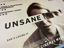 Unsane (2018) Starring Claire Foy Original UK Quad Poster