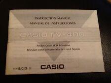 Casio Tv Lcd De Bolsillo -400 Guía del usuario de televisión en color folleto de instrucciones Manual