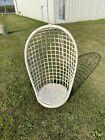 VTG Mid Century Egg Swing Rattan Wicker Bamboo Hanging Chair-