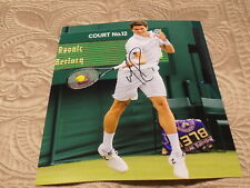 MILOS RAONIC AUTOGRAPHED TENNIS 8X10 PHOTO W/COA