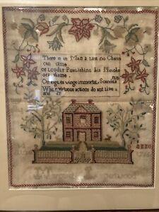 Early English Needlework Sampler 1765