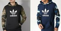 Adidas Men Originals Camouflage Trefoil Hoodie Black (DV2023) and Navy (DV2064)