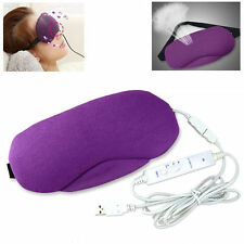 USB Sleep Eye Mask Anti Fatigue Dark Circles Aid Heated Steam Warming CA
