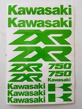 Kawasaki ZXR 750 Aufkleber Set  - in Gift Grün - alle Farben möglich