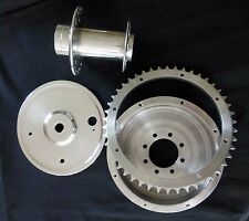 Triumph motorcycle vintage rear wheel hub , brake drum , sprocket & cover plate