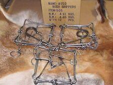 3 Bridger 150 Magnum Body Grippers Traps 505  Muskrat  Mink Fisher new sale