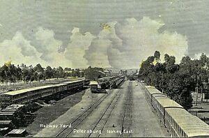 [STH AUST] Railway Yard, Petersburg, looking East - Postcard