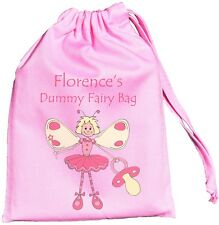PERSONALISED PINK DUMMY BAG - FAIRY DESIGN - TINY DRAWSTRING BAG  Supplied Empty