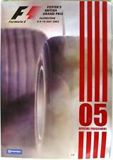 Silverstone 8-10 July 2005 British Grand Prix Official Programme + Race Card